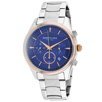 Men's Silver Classic Stainless Steel Chronograph Kenneth Cole Watch KC50946002