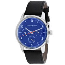 Men's Blue Dress Sport Leather Chronograph Kenneth Cole Watch KC50953002