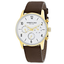 Men's Brown Dress Sport Leather Chronograph Kenneth Cole Watch KC50953004