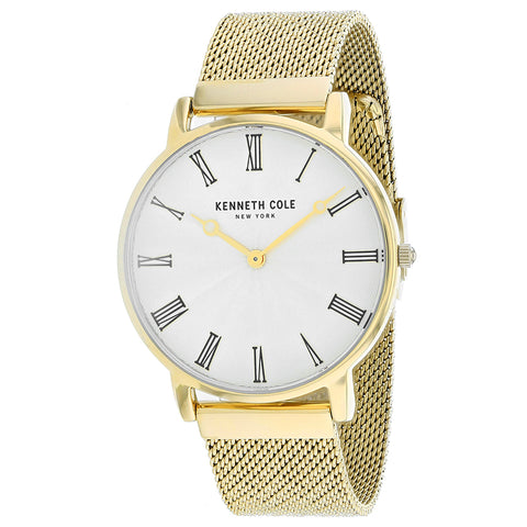 Men's Gold Dress Stainless Steel Analogue Kenneth Cole Watch KC50954004