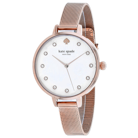 Ladies Rose Gold Metro Stainless Steel Analogue Kate Spade Watch KSW1492