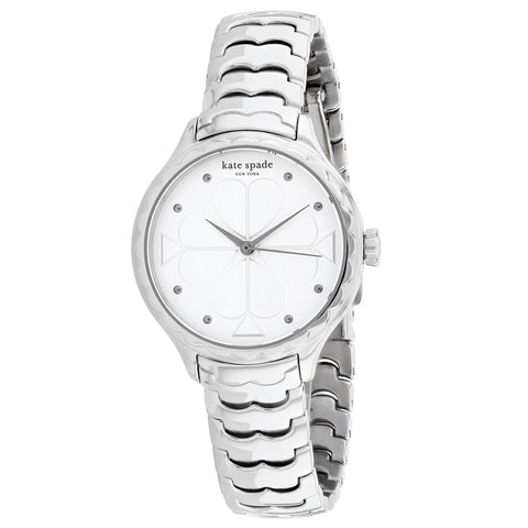 Ladies Silver New York Stainless Steel Analogue Kate Spade Watch KSW1505