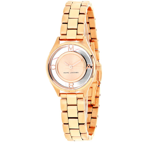 Ladies Rose Gold Tether Stainless Steel Analogue Marc Jacobs Watch MJ3417