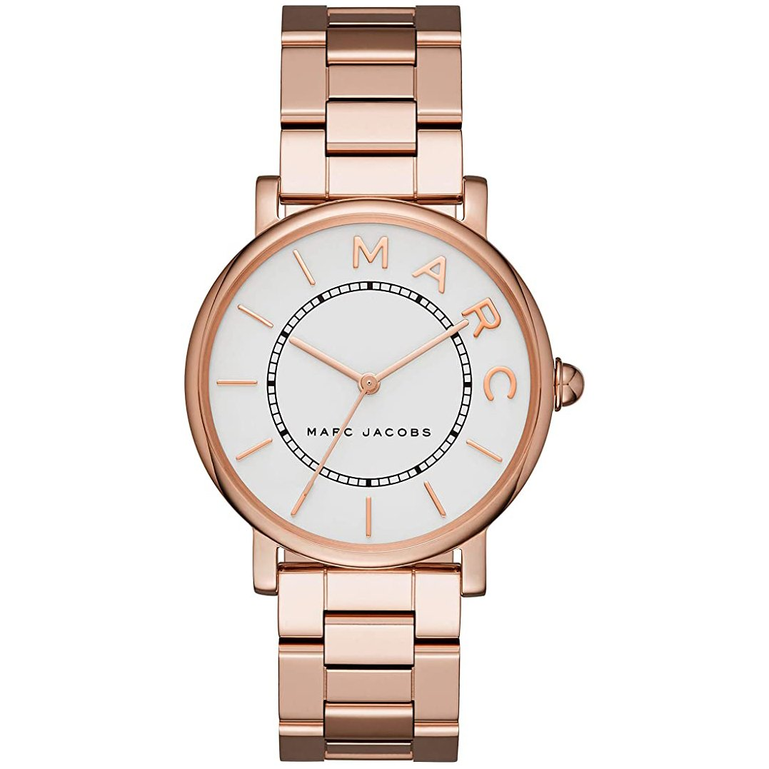Ladies Roxy Silver Dial Rose Gold Stainless Steel Marc Jacobs Watch MJ3523