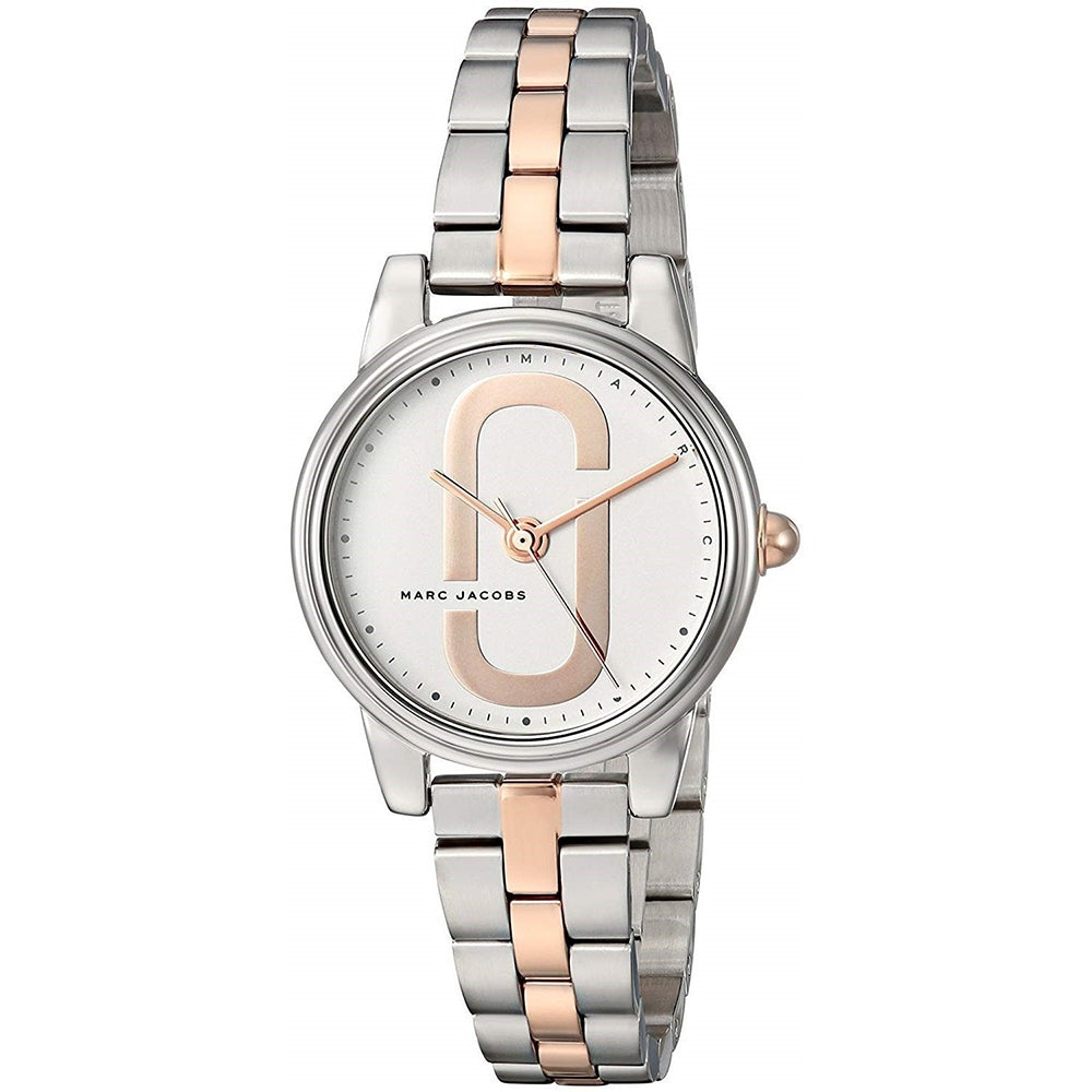Ladies Silver Corie Stainless Steel Analogue Marc Jacobs Watch MJ3563