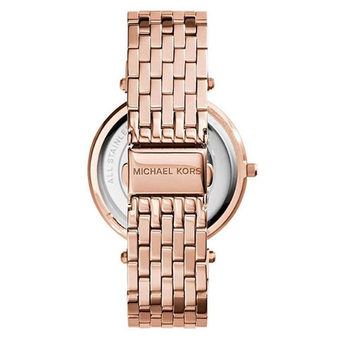 Ladies Darci Purple Two Tone Rose Gold Stainless Steel Michael Kors Watch MK3400