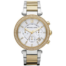 Ladies Parker Silver & Gold Chronograph Michael Kors Watch MK5626