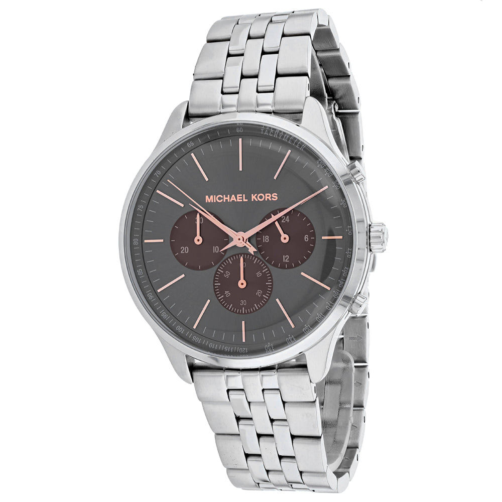 Men's Silver Sulter Stainless Steel Analogue Michael Kors Watch MK8723
