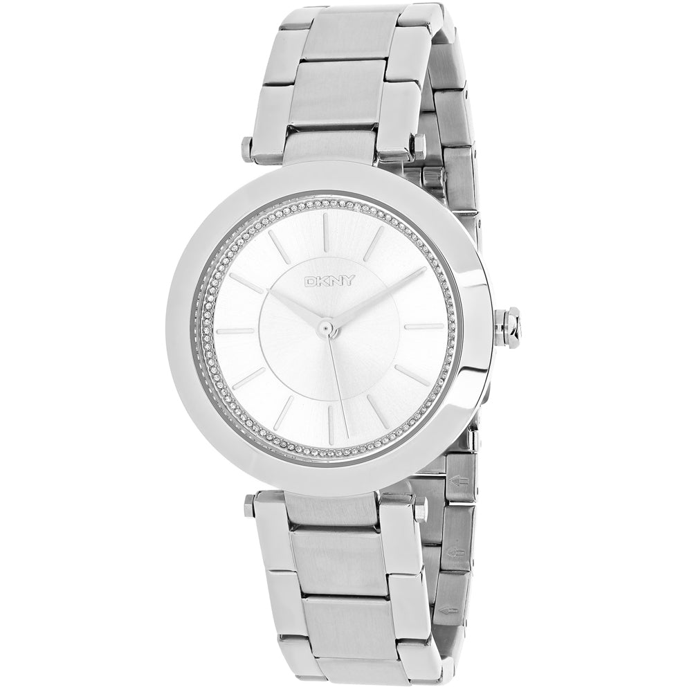 Ladies Silver Stanhope Stainless Steel Analogue DKNY Watch NY2285