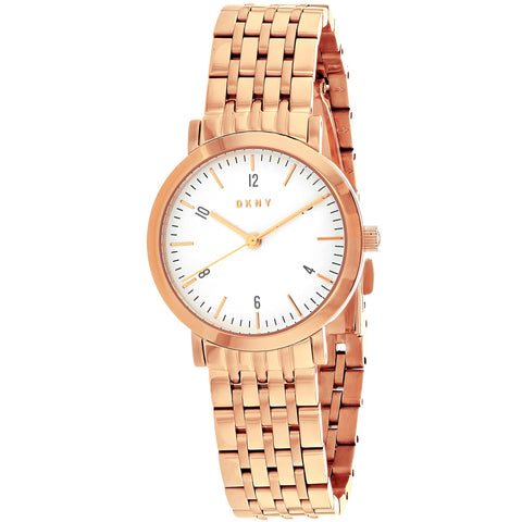 Ladies Rose Gold Minetta Stainless Steel Analogue DKNY Watch NY2511