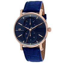 Men's Blue Lexington Leather Analogue Oceanaut Watch OC0343