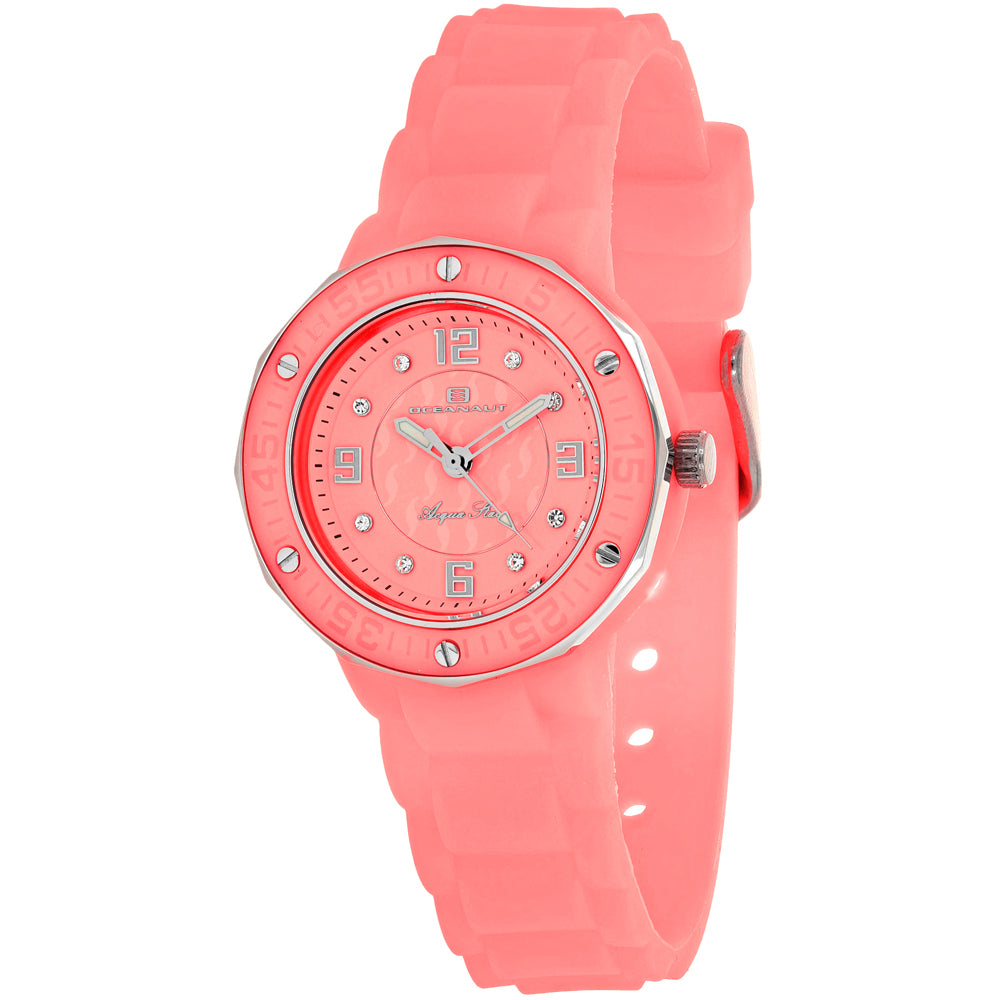 Ladies Pink Acqua Star Rubber Analogue Oceanaut Watch OC0436