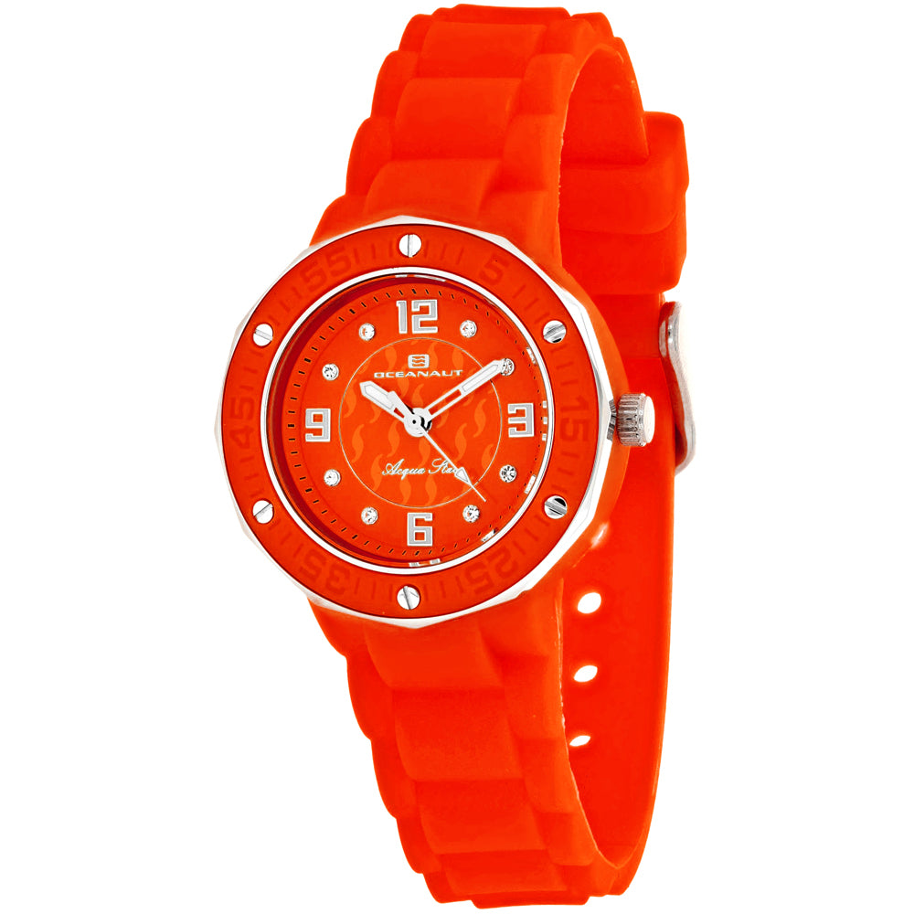 Ladies Red Acqua Star Rubber Analogue Oceanaut Watch OC0440