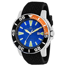 Men's Black Marletta Rubber Analogue Oceanaut Watch OC2914
