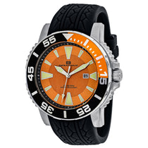 Men's Black Marletta Rubber Analogue Oceanaut Watch OC2915
