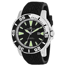 Men's Black Marletta Rubber Analogue Oceanaut Watch OC2916