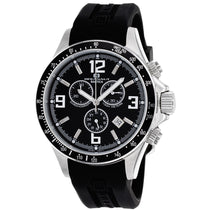 Men's Black Baltica Rubber Chronograph Oceanaut Watch OC3345