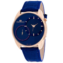 Men's Blue Sentinel Leather Analogue Oceanaut Watch OC3355