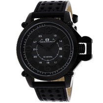 Men's Black Scorpion Leather Analogue Oceanaut Watch OC4113