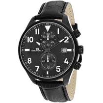 Men's Black Rally Leather Analogue Oceanaut Watch OC4322