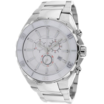 Men's White Seville Stainless Steel Chronograph Oceanaut Watch OC5125