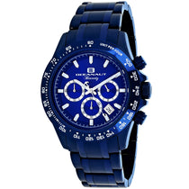 Men's Blue Biarritz Stainless Steel Analogue Oceanaut Watch OC6117