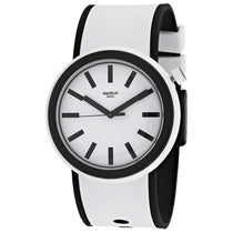 Men's White Pop Rubber Analogue Swatch Watch PNW100