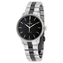 Ladies Silver-Black Coupole Stainless Steel Analogue Rado Watch R22862152
