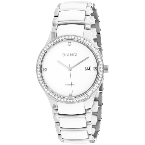 Ladies Silver-White Balbinus Stainless Steel with Ceramic Link Analogue Roberto Bianci Watch RB2942