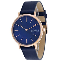 Ladies Blue Signature Leather Analogue Skagen Watch SKW2631