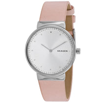 Ladies Pink Annelie Leather Analogue Skagen Watch SKW2753