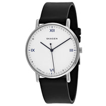 Men's Black Classic Leather Analogue Skagen Watch SKW6412