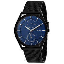 Men's Black Holst Stainless Steel Mesh Analogue Skagen Watch SKW6450
