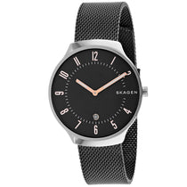 Men's Gunmetal Grenen Stainless Steel Mesh Analogue Skagen Watch SKW6460