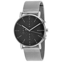 Men's Silver Classic Stainless Steel Mesh Analogue Skagen Watch SKW6464