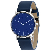Men's Blue Signature Leather Analogue Skagen Watch SKW6481