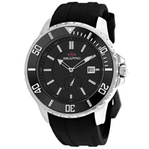 Men's Black Force Stainless Steel Chrono-Date Seapro Watch SP0512
