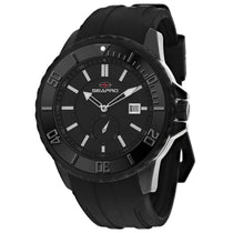 Men's Black Force Stainless Steel Chrono-Date Seapro Watch SP0513