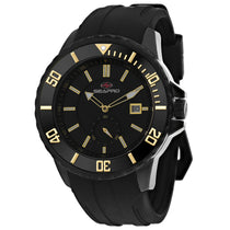 Men's Black Force Stainless Steel Chrono-Date Seapro Watch SP0514