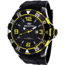 Men's Black Diver Rubber Analogue Seapro Watch SP1114