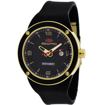 Men's Black Diver Rubber Analogue Seapro Watch SP2112