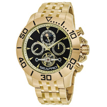 Men's Gold Montecillo Stainless Steel Chronograph Seapro Watch SP5131