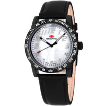 Ladies Black Bold Leather Analogue Seapro Watch SP5210