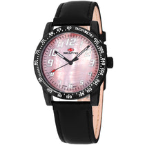 Ladies Black Bold Leather Analogue Seapro Watch SP5211