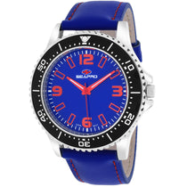 Men's Blue Tideway Leather Analogue Seapro Watch SP5313