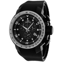 Men's Black Imperial Rubber Chronograph Seapro Watch SP7121
