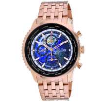 Men's Rose Gold Meridian World Timer GMT Stainless Steel Chronograph Seapro Watch SP7321