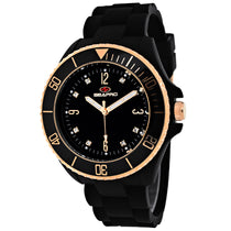 Ladies Black Sea Bubble Rubber Analogue Seapro Watch SP7412