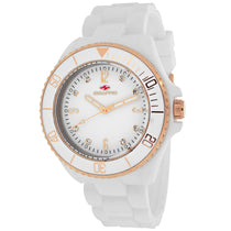 Ladies White Sea Bubble Rubber Analogue Seapro Watch SP7413