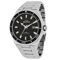 Men's Black Storm Stainless Steel Analogue Seapro Watch SP8112